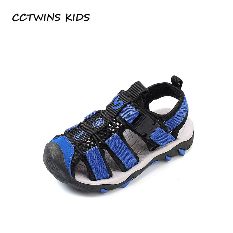 CCTWINS KIDS 2018 Summer Baby Boy Casual Sport Shoe Children Fashion Beach Sandal Toddler Brand Soft Flat Kid Blue BB109