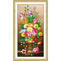 5D Diamond Painting Flower Rhinestone Cross Stitch Flowers Diy Diamond Embroidery Home Decor Round Diamond Mosaic