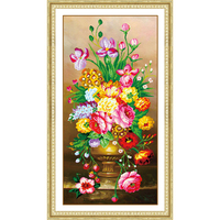 5D Diamond Painting Flower Rhinestone Cross Stitch Flowers Diy Diamond Embroidery Home Decor Round Diamond Mosaic