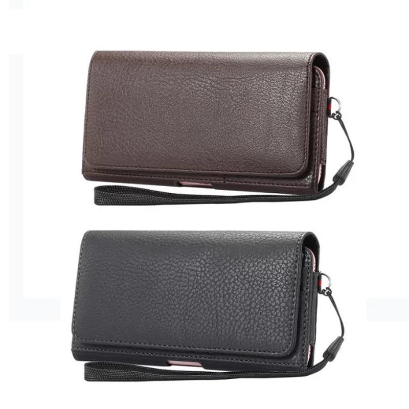 Luxury Universal Holster Belt Clip Waist Man Flip PU Leather Cover Bag Phone font b Case