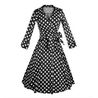 3 Ladies Fixed color Threaded Button Decorative Princess Dress LSY204