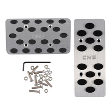Car Accessories Auto Automatic Car Gas Brake Metal Pedal Covers AT Pedals Pads Silver Tone Black