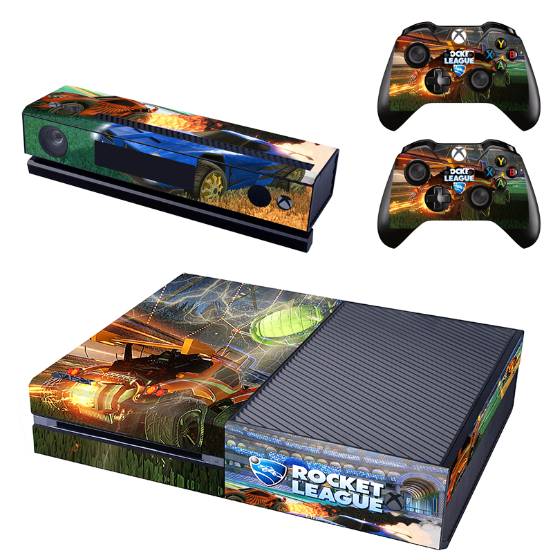 Rocket League Decal Skin Sticker for Microsoft Xbox One Kinect and Console and 2 Controllers Vinyl Game Stickers