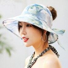 4376c3ecd3a8d6 Women Floppy Sun Beach Straw Hats Wide Brim Packable Summer Cap Bohemia  Flower Print Beach Hat