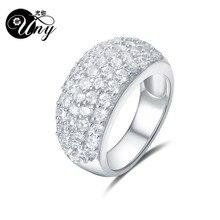 0f13b0763207 UNY кольцо Мода 925 серебро на заказ гравировка колец Семья Фамильные  Юбилей Валентина GiftRing женские персонализированные ювел.