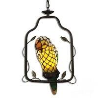 Tiffany lamp pastoral animal parrot book tenant household Pendant Lights hanging bar restaurant bedroom lamps DF42