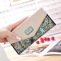Fashion Coin Purse Floral Long Women Wallet 5 Colors Flower Clutch Wallets Popular Change Purse Delicate