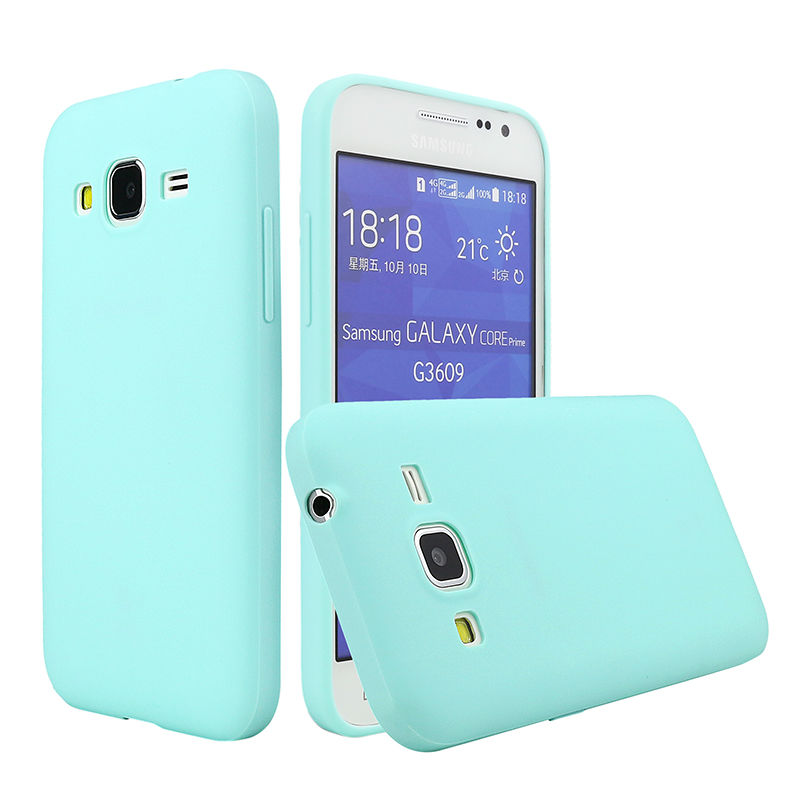 Case For Samsung Galaxy Core Prime G360 Cover Silicone Solid Candy Color TPU Rubber Glossy Back Cover For Samsung G360 Skin