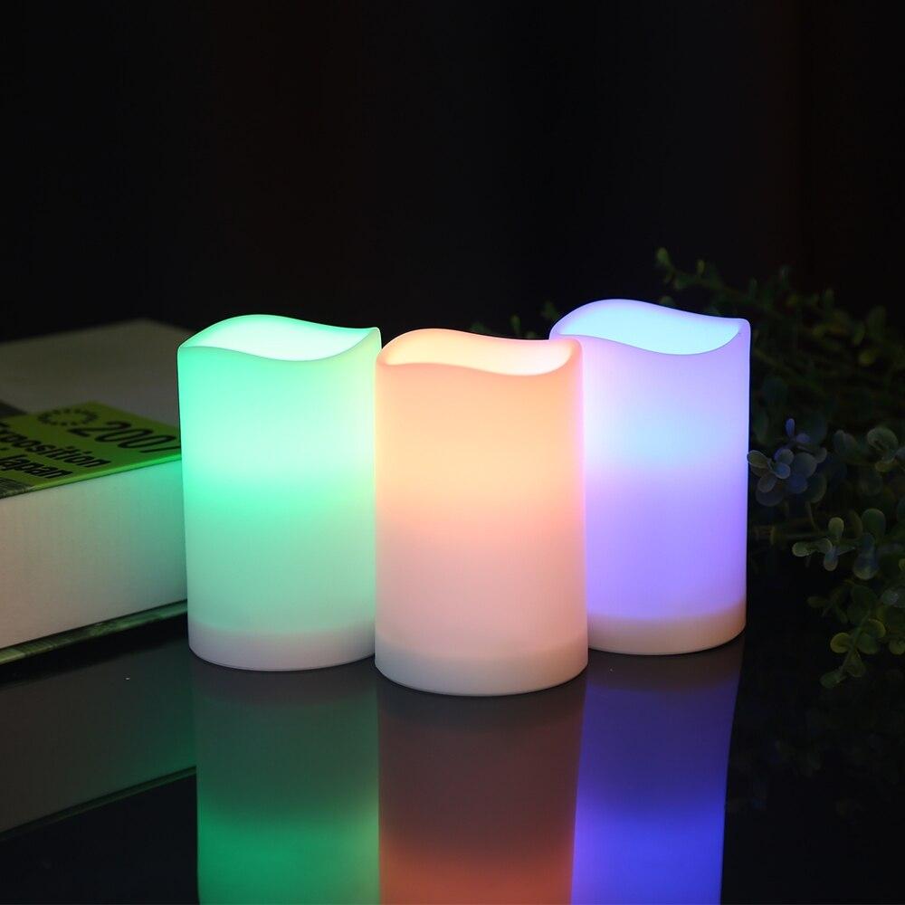 LED Simulation Bougie Lampe De Nuit Décor pour Chambre Bureau Lumière Télécommande Intelligente Bougie lumière LED Lampe Décoration De Fête De Mariage