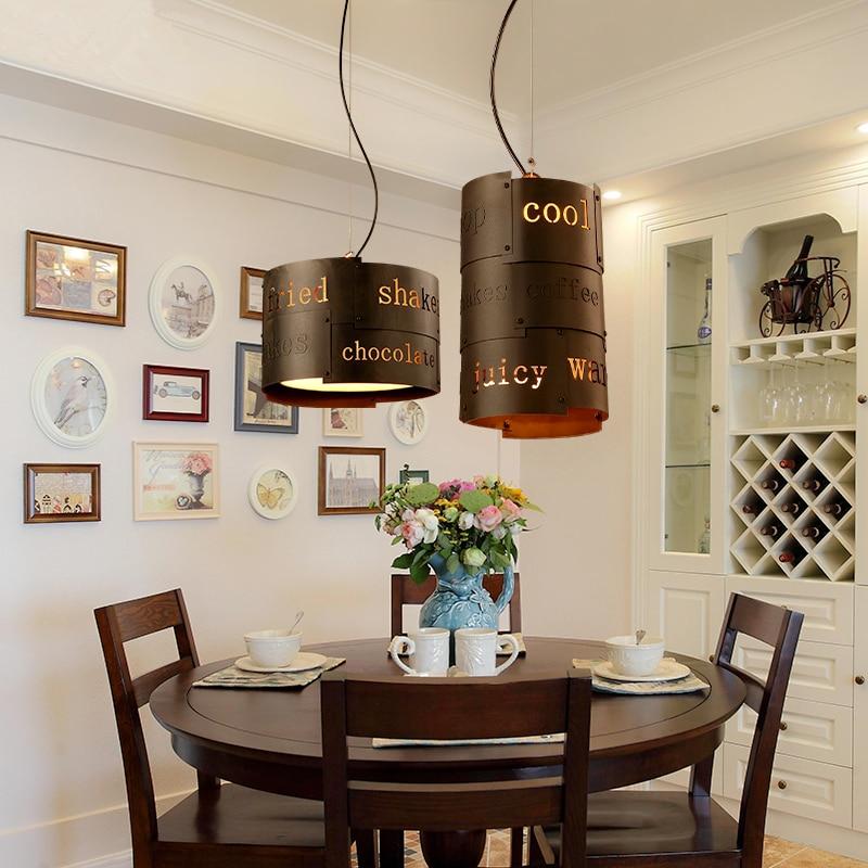 Loft ретро Кофе магазин железная люстра оригинальность ресторан бар английский письмо украсить E14 светодиодный свет Бесплатная доставка
