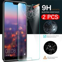 2pcs/Lot Tempered Glass For Huawei Ascend Honor 20i V20 play P Smart 2019 Mate 30 20 10 Pro Lite 9 Screen Protector Protective(China)