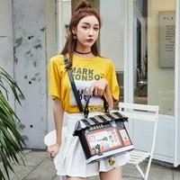 Bags for women handbag designer 2019 new women's bag portable messenger bag small fresh parquet package creative comics