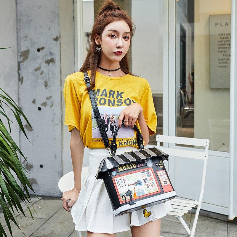 Sacs pour femmes sac à main designer 2019 nouveau sac pour femmes portable messenger sac petit frais parquet paquet créatif comics