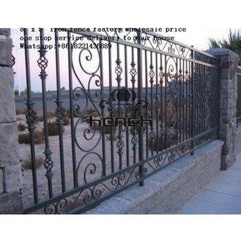 La clôture en fer forgé de décoration conçoit la sécurité de ...