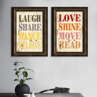 Modern Colorful Words Definition Love Canvas A4 Art Print Poster Nordic Wall Picture Frame Be Printed