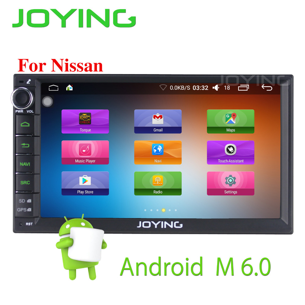 Latest 2Din 7'' Android 6.0 Car Radio for Tiida video Player for Qashqai car GPS head unit for Nissan X Trail/Sentra/Versa/350Z