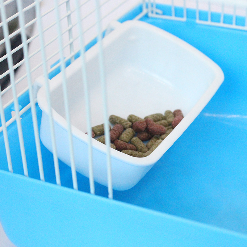 General Purpose Small Pet Food Bowl Hamster Cage Hook Up Square  Drink Water Bowl Multicolor Squirrel Feeder Pet Supplies