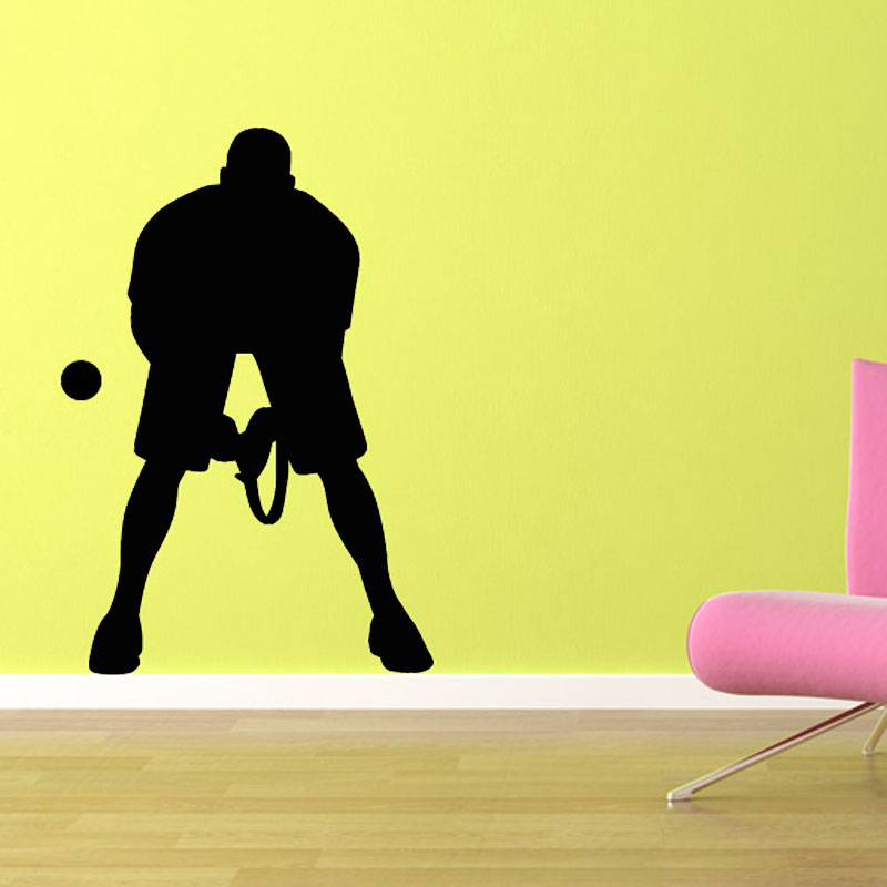 Vinyl Art Wall Sticker Living Room Male Tennis Player Wall Decal DIY Removable Home Decor