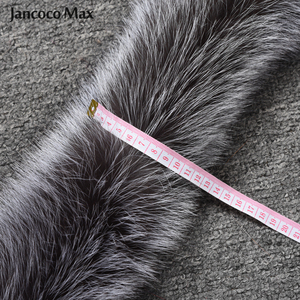 Image 3 - Vrouwen Real Silver Fox Bont Sjaal Winter Mode Bontkraag Op Kap Luxe Sjaals Vossenbont S7396