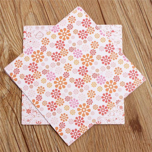 Belle 70 Pcs/Lot Pas Cher Floral Motif Bricolage Enfants Origami