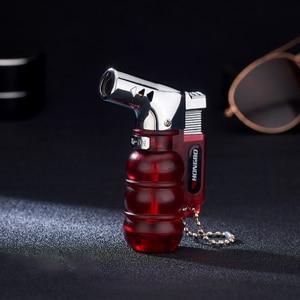 Image 4 - Компактная Бутановая струйная зажигалка, факельная турбо зажигалка для труб, мини пистолет распылитель, ветрозащитная Зажигалка для сигар, 1300 с, без газа