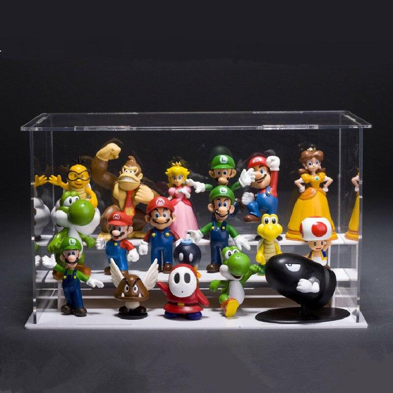 18 шт./компл., различные стили, Супер Марио, фигурки, игрушки 3,5-5,5 см, модель, украшение, игрушки для детей, украшение автомобиля