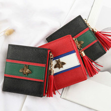 Hot Sale Genuine Leather Women Wallets Women Purses Hasp Wallet Female Small Coin Purse Leather Zipper Carteira Feminina