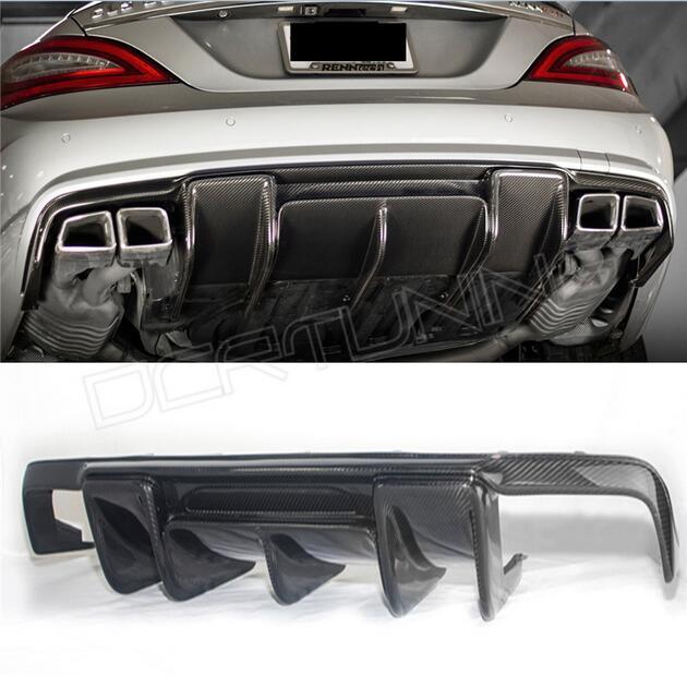 W218 AMG Renntech estilo fibra de carbono tope posterior labio difusor para Mearcedes Benz W218 CLS350 CLS63 AMG parachoques 2011-2013