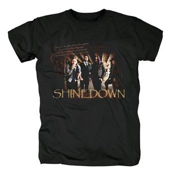 Bloodhoof Shinedown Amaryllis Rock Band heren Zwart katoen nieuwe T-shirt Aziatische Grootte