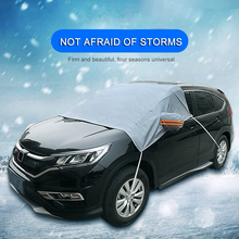 Универсальный автомобильный чехол на лобовое стекло, защита от солнца и тени, зимний утеплитель, защита от мороза, защита от снега, защита от солнца