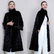 X-Long Thick Fur Coat Women's Fur Jacket Winter Overcoat Rabbit Faux Fur Outerwear New 2016 Fashion Style