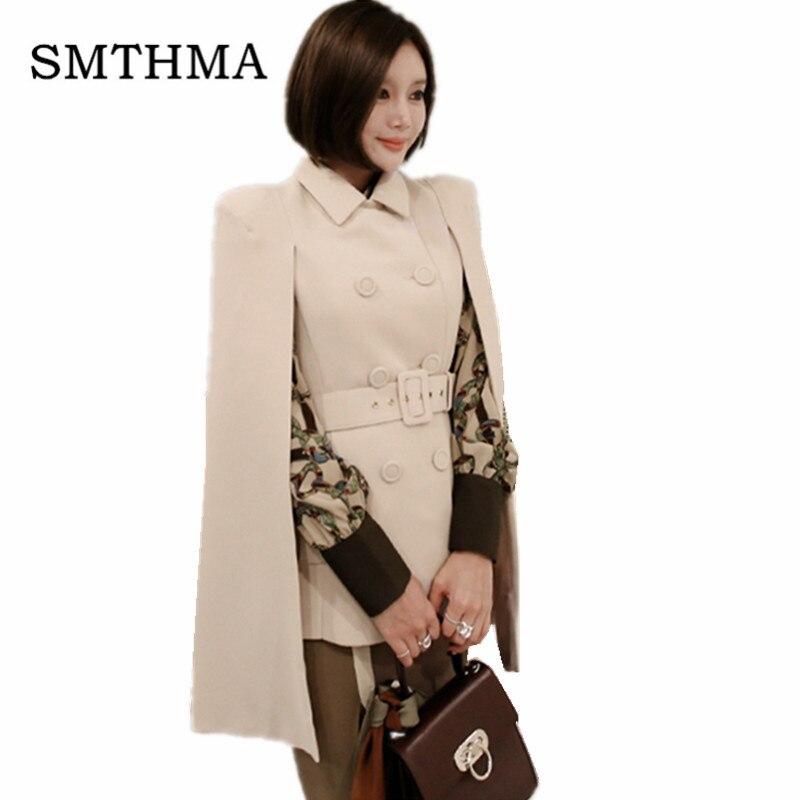 Suits & Sets Fashion Cloak Cape Blazer Women Work Wear Open Front Poncho Coat Notch Lapel Split Long Sleeve Casual Slim Suit Jacket Without Return