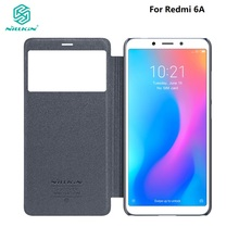 Flip case Cover For Xiaomi Redmi 5A 6A NILLKIN Phone Sparkle PU leather flip cover view window Case