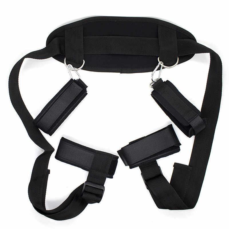Сексуальное нижнее белье БДСМ секс бандаж набор наручники и манжеты на щиколотки эротические аксессуары секс-игрушки для пар