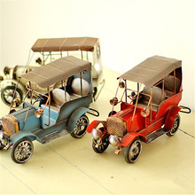 Vintage Car Model Metal Crafts Iron Camera Photography Props Bar Cafe Home Decor Miniature Craft Handicraft Furnishing Articles