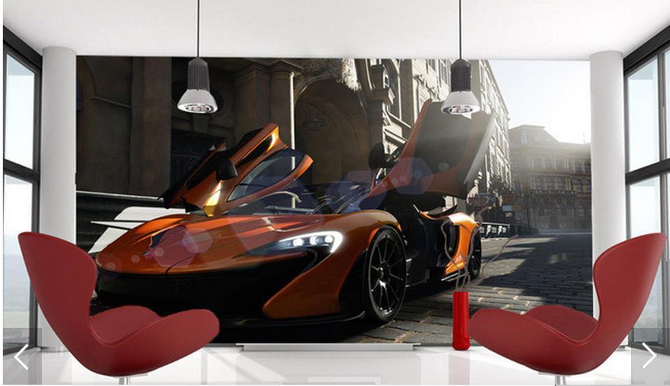 Online get cheap wallpaper cool cars for Car mural wallpaper