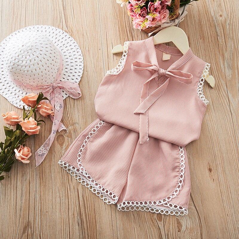 Summer Baby Girls Casual Off-shoulder Short Sleeve Tops T-shirt +Mini Skirts Costume Set