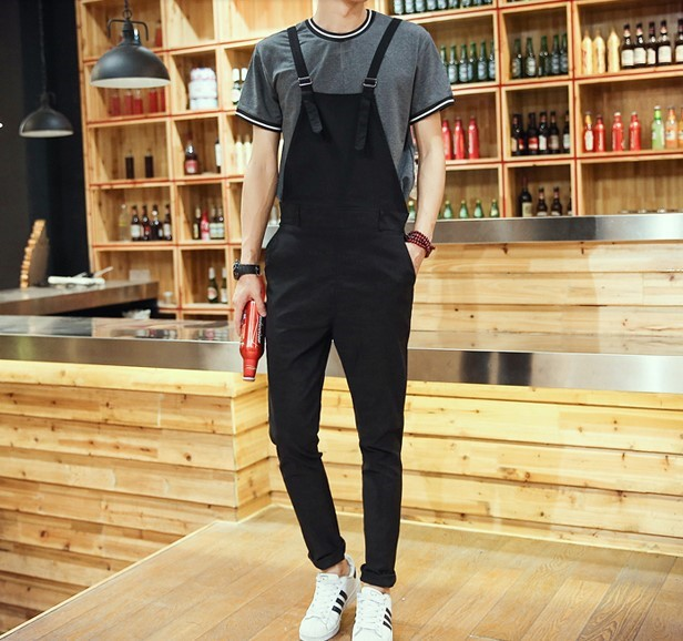 0b014a0eb8a Mens Black Jumpsuit For Men Fashion Skiny Overall One Piece Jumpsuits Men  Suspender Pants Trousers Salopette