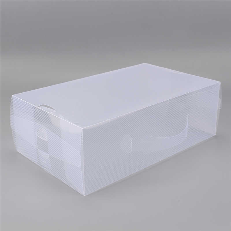 5pcs foldable clear plastic storage shoe boot boxes case women ladies stackable shoe box 30x18 x10cmin storage boxes u0026 bins from home u0026 garden on