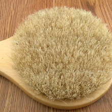 New Natural Bristle Long Horse Hair Handle Wooden Wood Bath Shower Body Back Brush Spa Scrubber Best Gift For Women