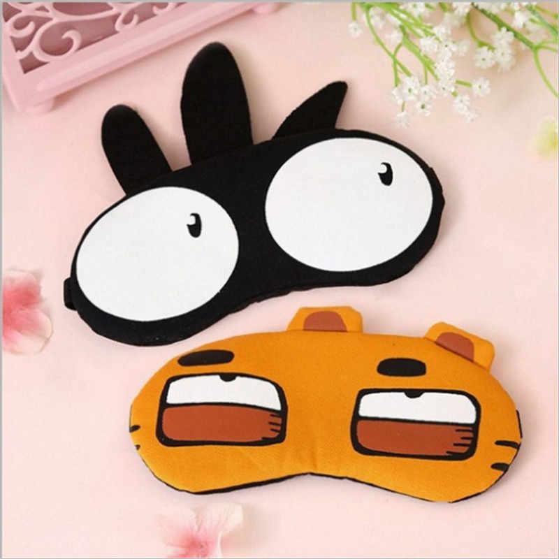 Cute Cartoon zwierząt Fox sowa tygrys maska na oczy opaska miękka wyściólka snu podróży opaska na oczy pokrywa odpoczynek relaks pomoc w zasypianiu maska