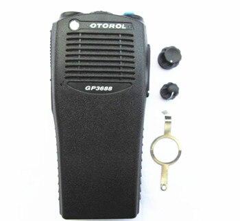 La cubierta de la carcasa para motorola gp3188 walkie talkie con botones de canal y volumen J06