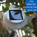 Branco LEVOU Ao Ar Livre Jardim Luz Solar À Prova D' Água Luz Sensor de Luzes para Decoração de Jardim Quintal Parede Gutter Caminho Lâmpadas de Segurança
