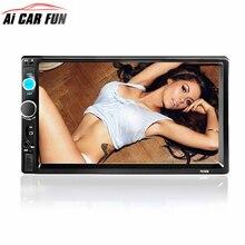 7010B 2Din автомобиля Радио автомобиля MP5 плеер Сенсорный экран Авто аудио стерео Мультимедиа FM/MP5/USB/AUX/ поддержка Bluetooth заднего вида Камера