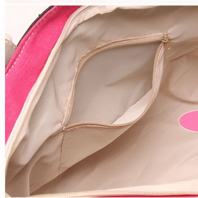 New Summer Canvas Shopper Bag Striped Rainbow Candy Prints Beach Bags Handbag Tote Women Ladies Girls Shoulder bag Casual Bolsas