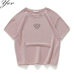 Женская футболка с короткими рукавами, 100% хлопок, повседневная, летняя, свободная