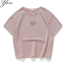 New Fashion 2018 t-Shirt women 100% cotton short sleeves Casual you go girl summ
