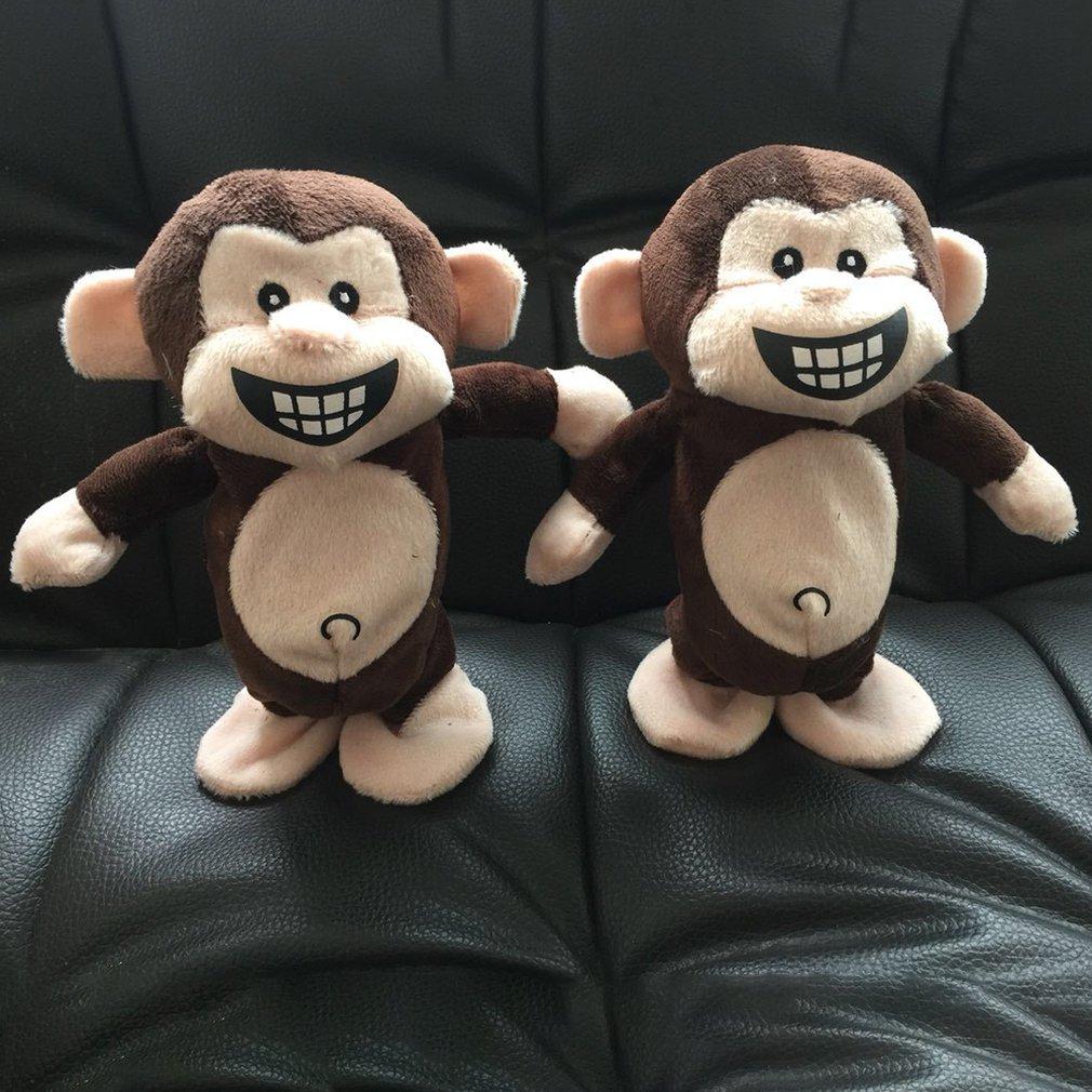 Electronic font b Pets b font Interactive Toys Smart Walking Talking Monkey Plush Recording Electric Toys