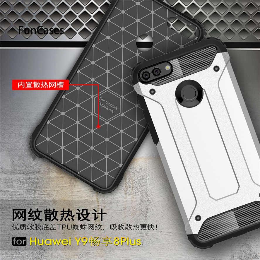 Copertura Huawei Y9 2018 Caso Y 9 2018 Sottile Robot Armatura di Gomma Capa Per La Cassa Del Telefono Huawei Y9 2018 Custodie huawei Godere 8 Più FLA-AL00