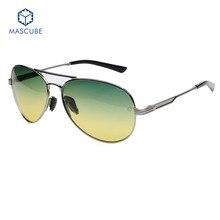Los hombres de Moda UV400 Polarizado gafas de Sol Al Aire Libre Gafas De Sol Hombre Espejos Enviar caja de la Caja de conducción Y Privado Coche Clip de 7 conjunto